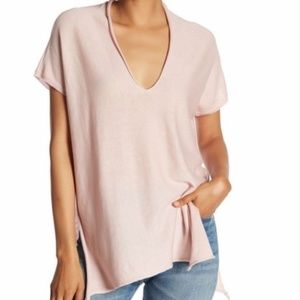 RDI Pink As You Wish Knit Tunic Top, side slits